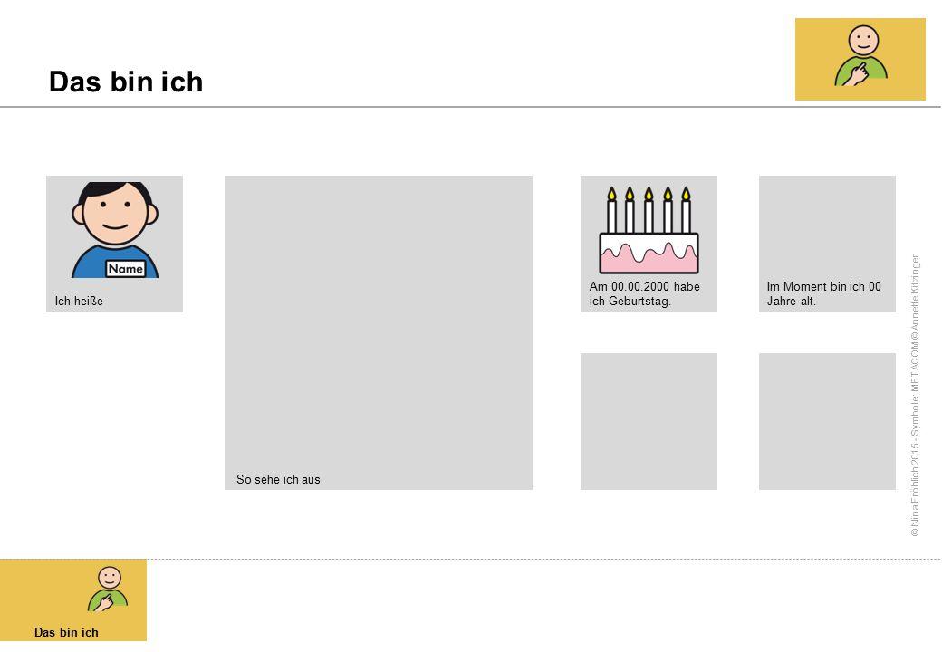 © Nina Fröhlich 2015 - Symbole: METACOM © Annette Kitzinger Das ist mein Kindergarten Kindergarten So sieht mein Kindergarten aus.