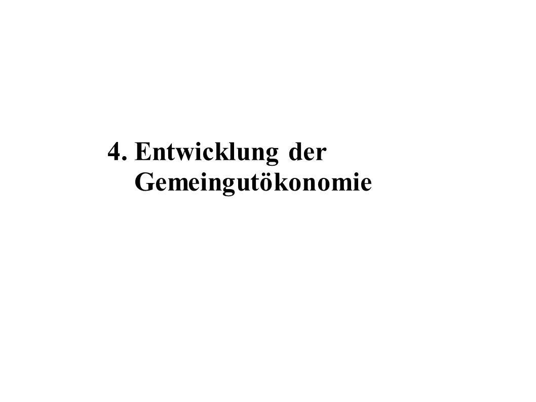 4. Entwicklung der Gemeingutökonomie