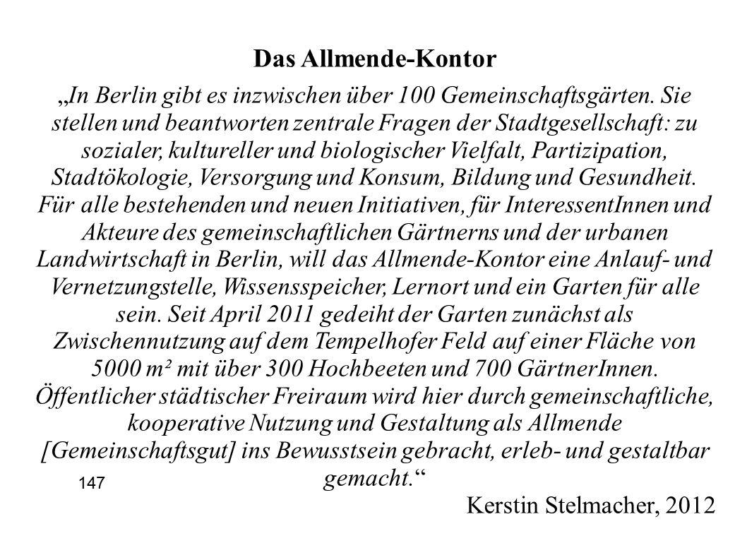 """Das Allmende-Kontor """"In Berlin gibt es inzwischen über 100 Gemeinschaftsgärten."""