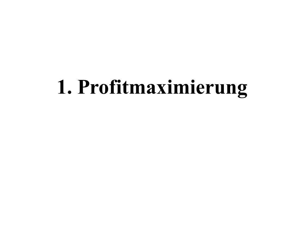 1. Profitmaximierung