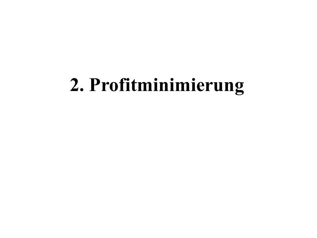 2. Profitminimierung