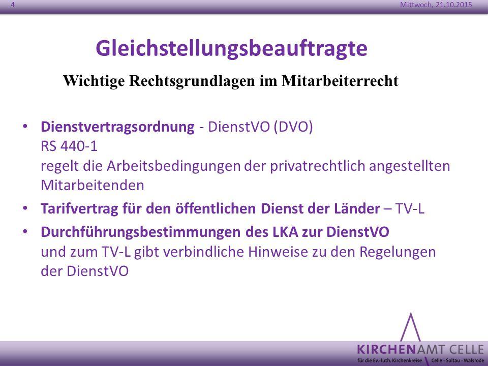 Gleichstellungsbeauftragte Dienstvertragsordnung - DienstVO (DVO) RS 440-1 regelt die Arbeitsbedingungen der privatrechtlich angestellten Mitarbeitend