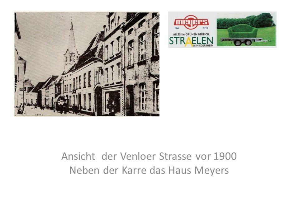 Ansicht der Venloer Strasse vor 1900 Neben der Karre das Haus Meyers