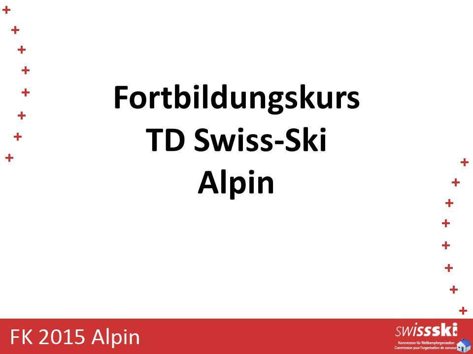 Fortbildungskurs TD Swiss-Ski Alpin