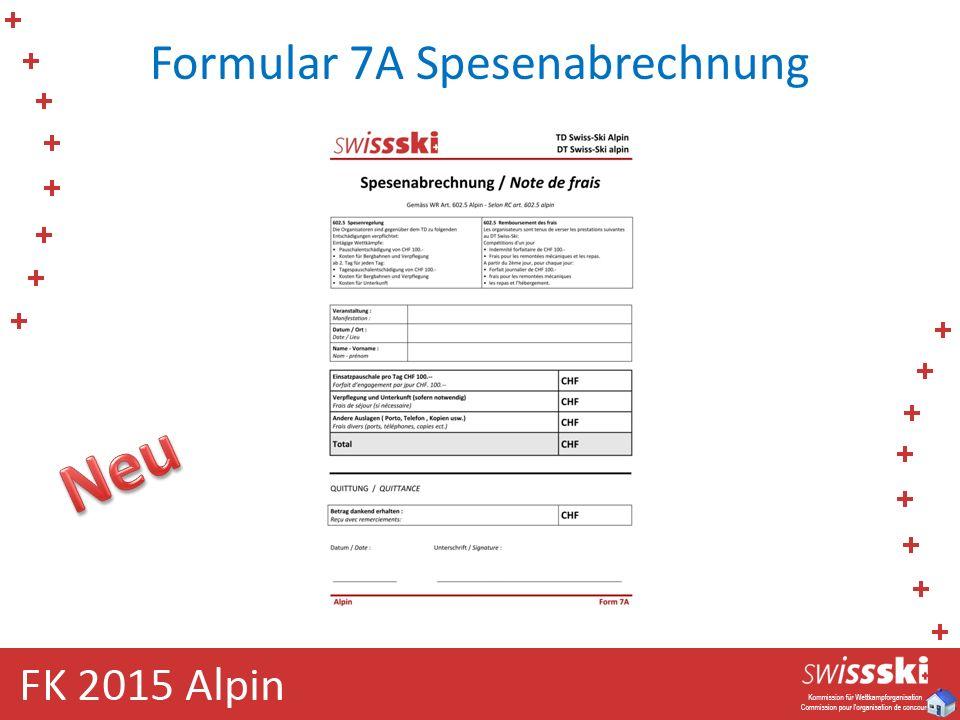 Formular 7A Spesenabrechnung