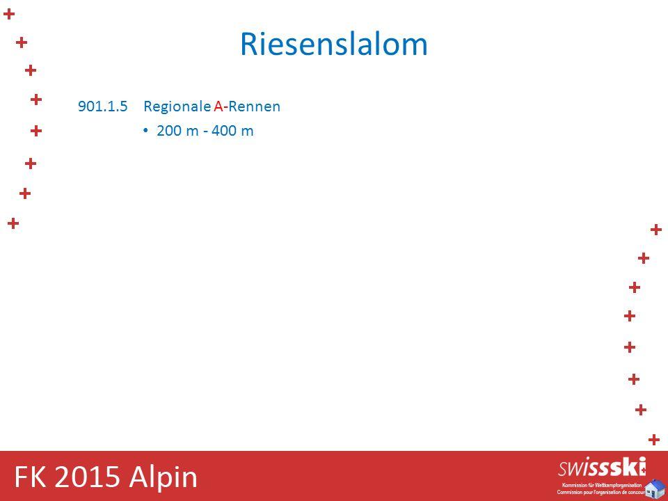 Riesenslalom 901.1.5Regionale A-Rennen 200 m - 400 m