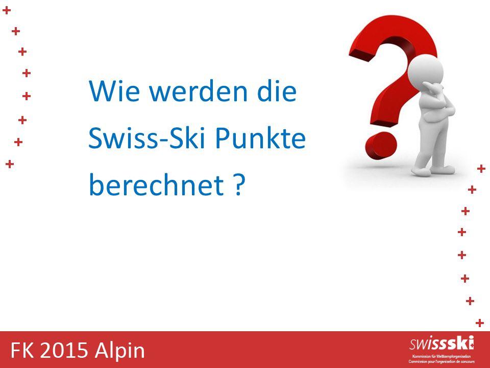 Wie werden die Swiss-Ski Punkte berechnet