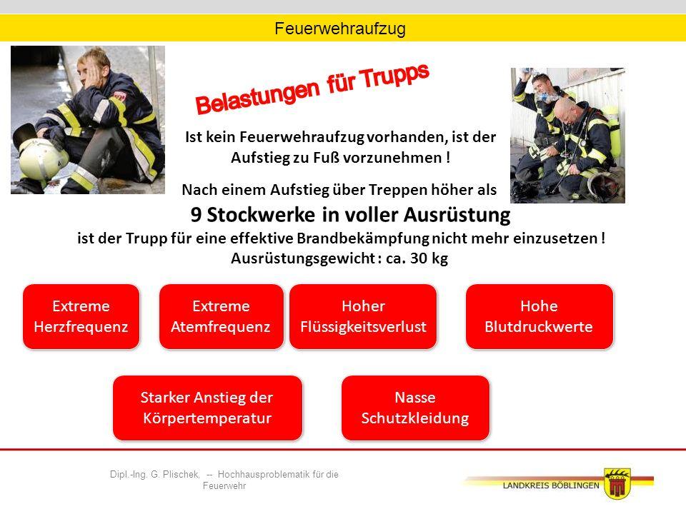 Feuerwehraufzug Ist kein Feuerwehraufzug vorhanden, ist der Aufstieg zu Fuß vorzunehmen .