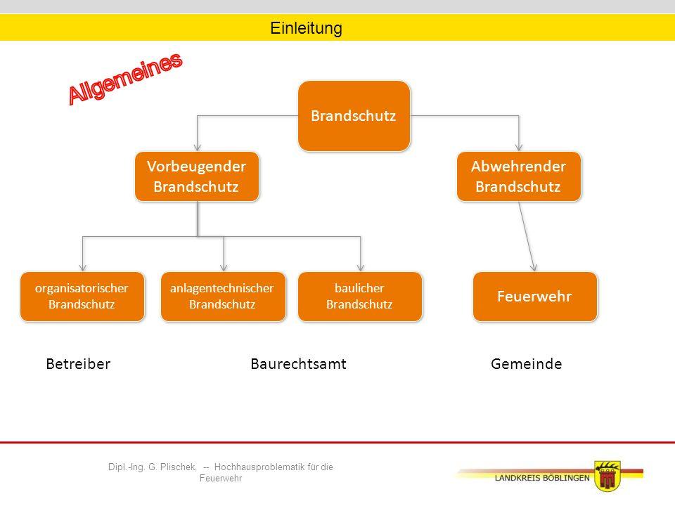 Dipl.-Ing. G. Plischek, -- Hochhausproblematik für die Feuerwehr Einsatztaktik