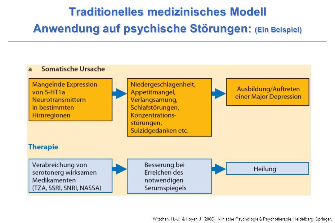 Traditionelles medizinisches Modell Anwendung auf psychische Störungen: (Ein Beispiel)