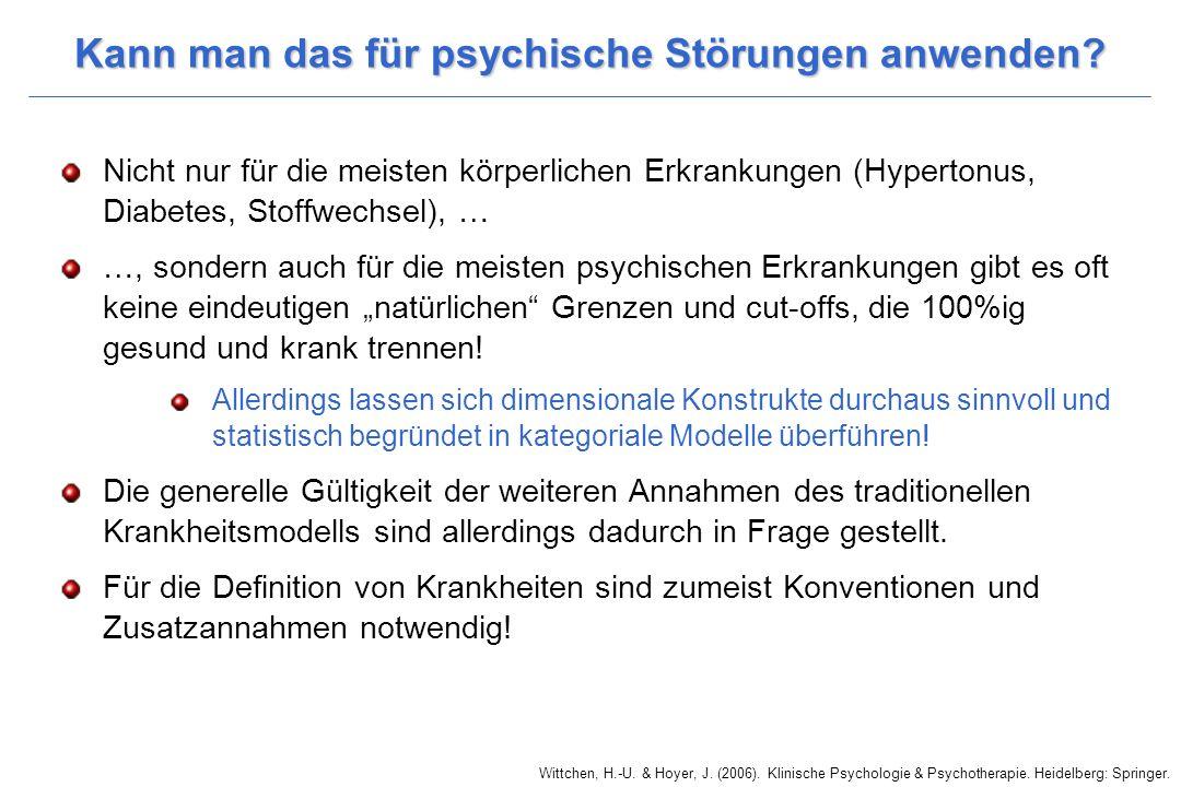 Kann man das für psychische Störungen anwenden.