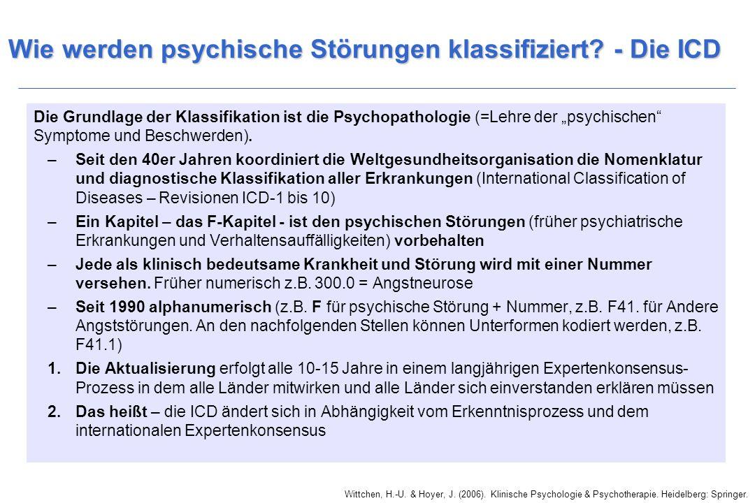 Wie werden psychische Störungen klassifiziert.