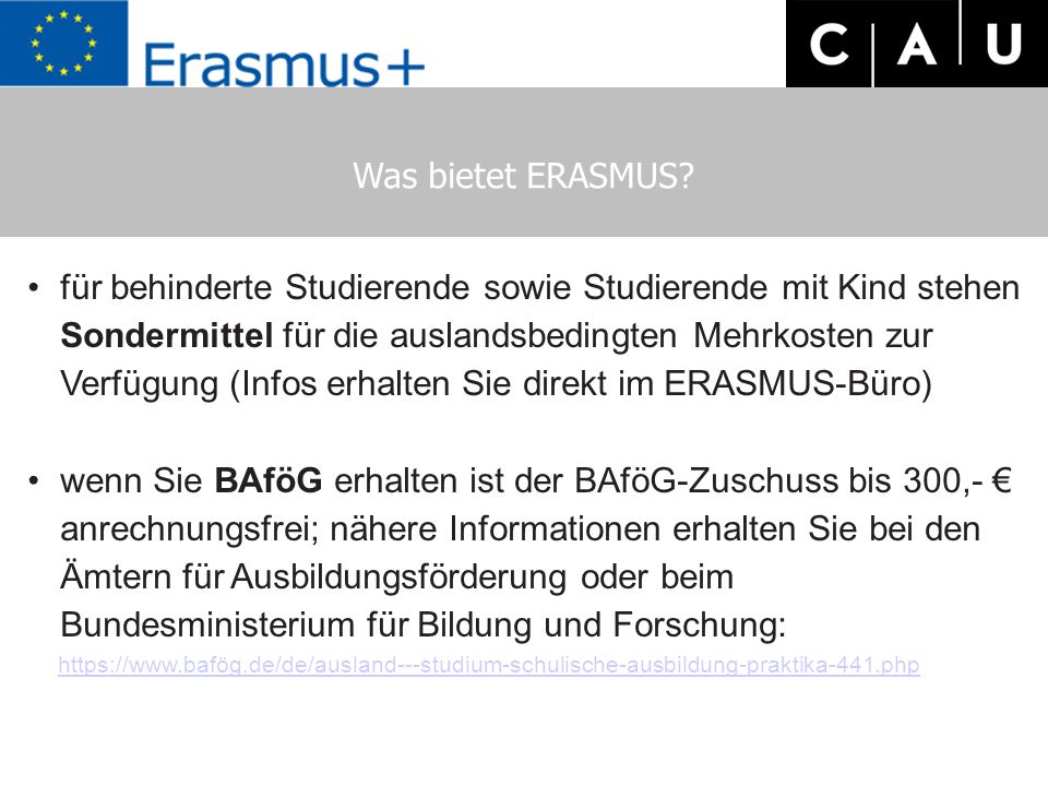 Was bietet ERASMUS.