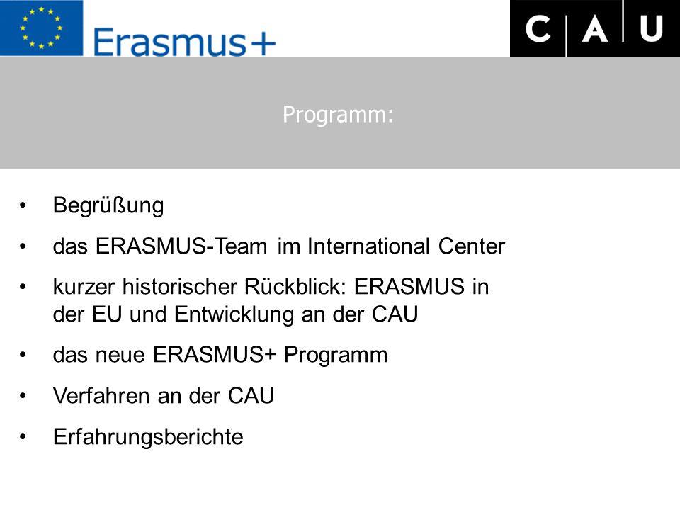 """Das """"GO-OUT-Team / Das ERASMUS-Team im International Center Frau Antje Volland Frau Dr."""
