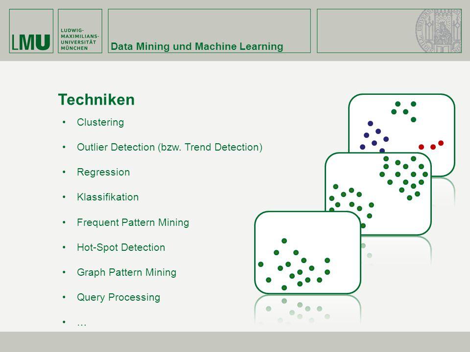 Data Mining und Machine Learning Techniken Clustering Outlier Detection (bzw.