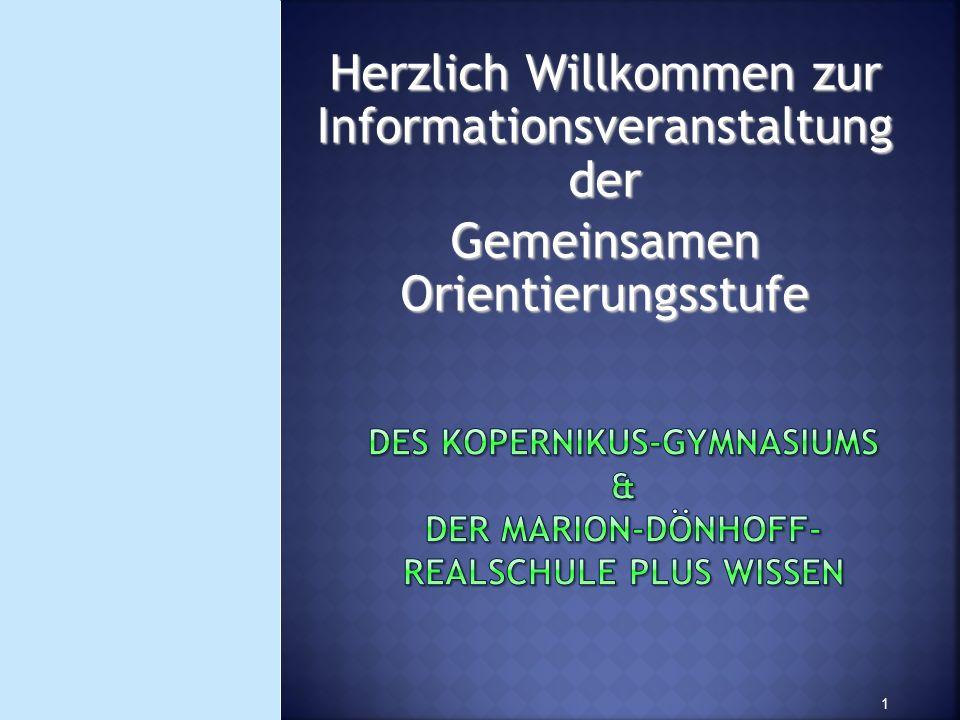 Herzlich Willkommen zur Informationsveranstaltung der Gemeinsamen Orientierungsstufe 1
