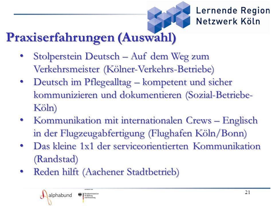 21 Stolperstein Deutsch – Auf dem Weg zum Verkehrsmeister (Kölner-Verkehrs-Betriebe) Stolperstein Deutsch – Auf dem Weg zum Verkehrsmeister (Kölner-Ve
