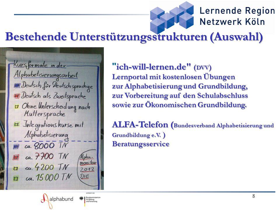 ich-will-lernen.de ( DVV ) Lernportal mit kostenlosen Übungen zur Alphabetisierung und Grundbildung, zur Vorbereitung auf den Schulabschluss sowie zur Ökonomischen Grundbildung.