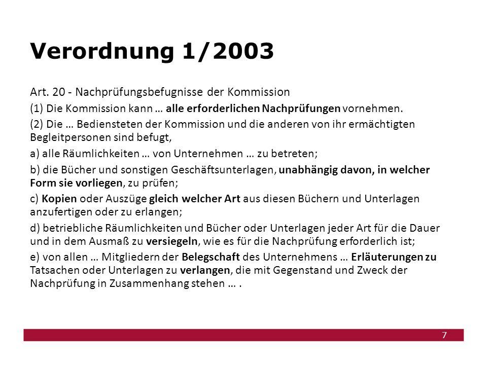 7 Verordnung 1/2003 Art.