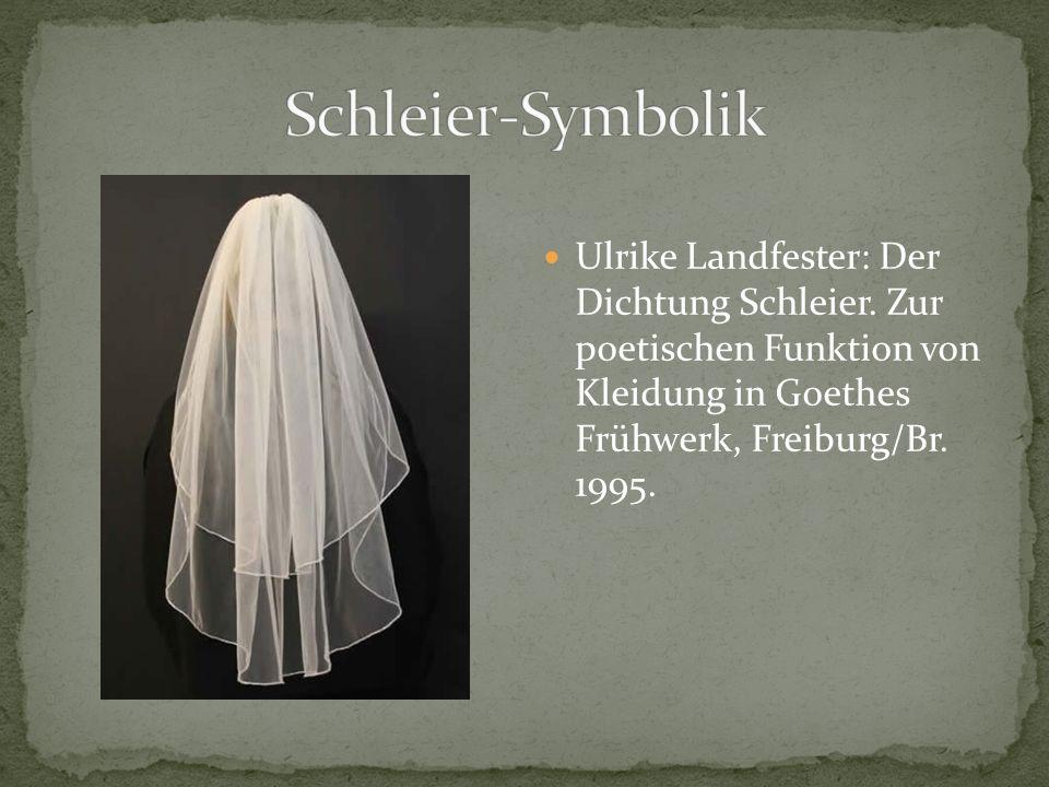 Ulrike Landfester: Der Dichtung Schleier.