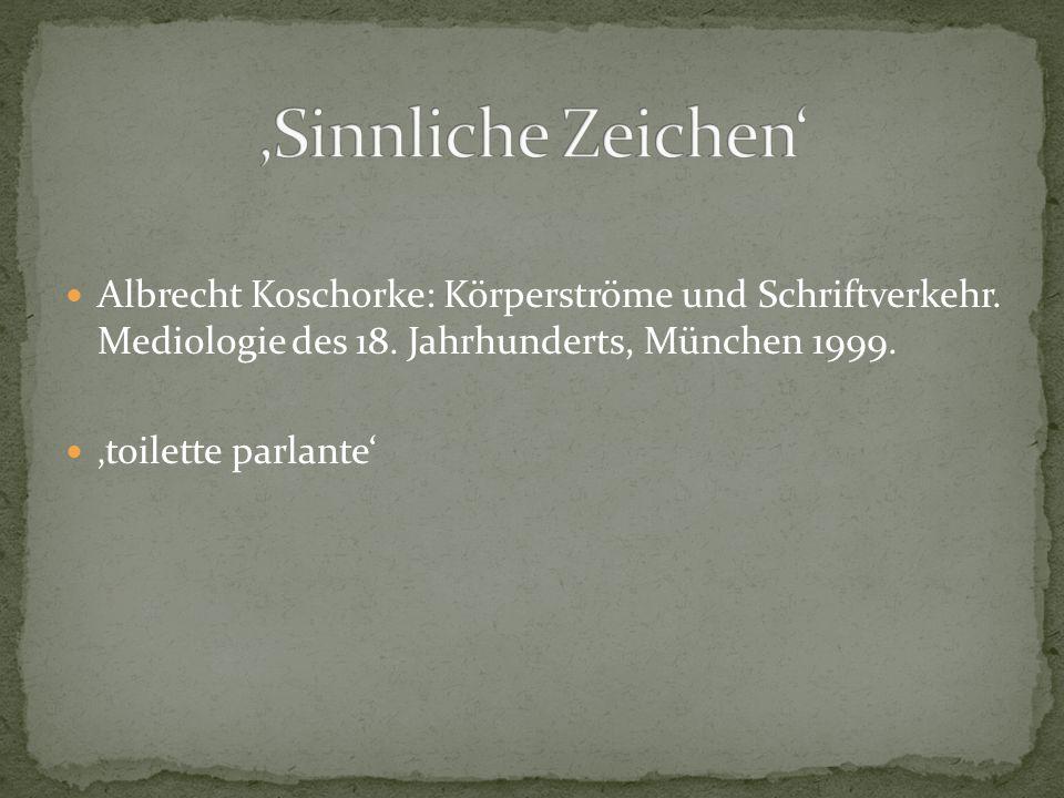 Albrecht Koschorke: Körperströme und Schriftverkehr.
