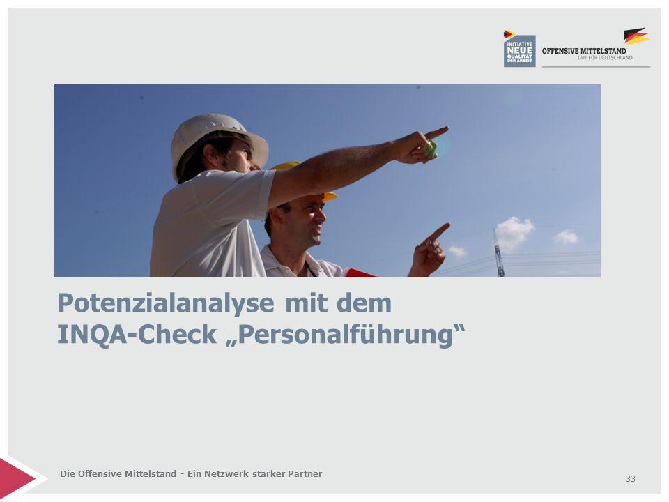 """33 Die Offensive Mittelstand - Ein Netzwerk starker Partner Potenzialanalyse mit dem INQA-Check """"Personalführung"""""""