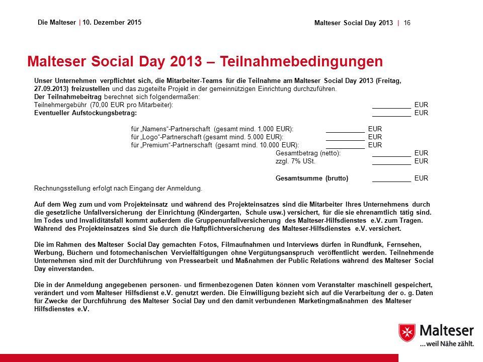16Malteser Social Day 2013 | Die Malteser | 10.