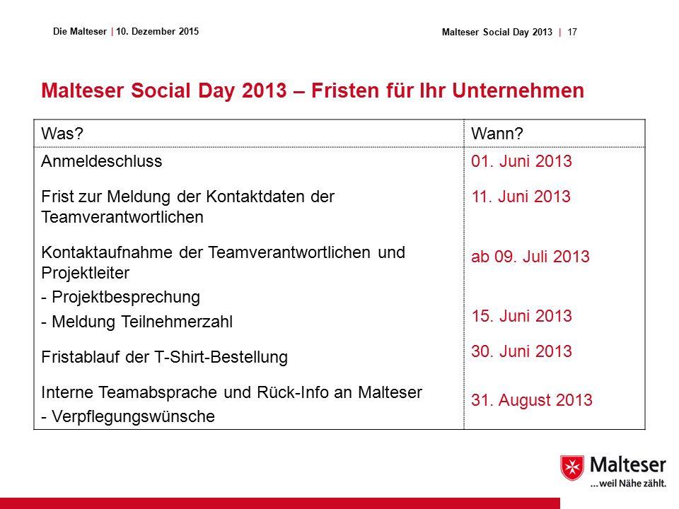 17Malteser Social Day 2013 | Die Malteser | 10.