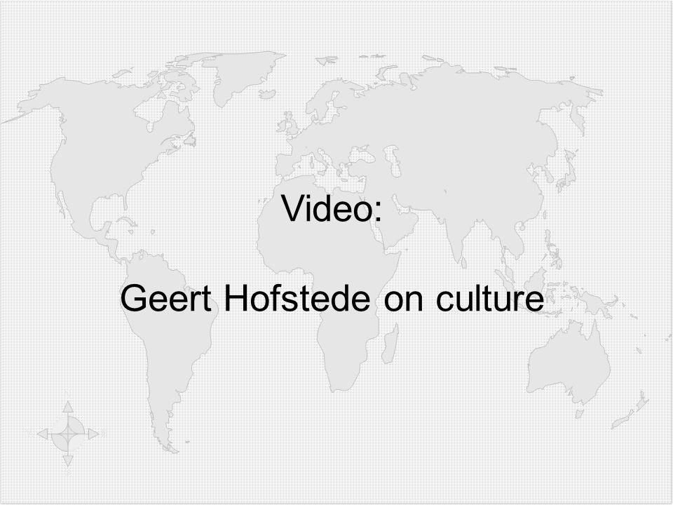 Video: Geert Hofstede on culture