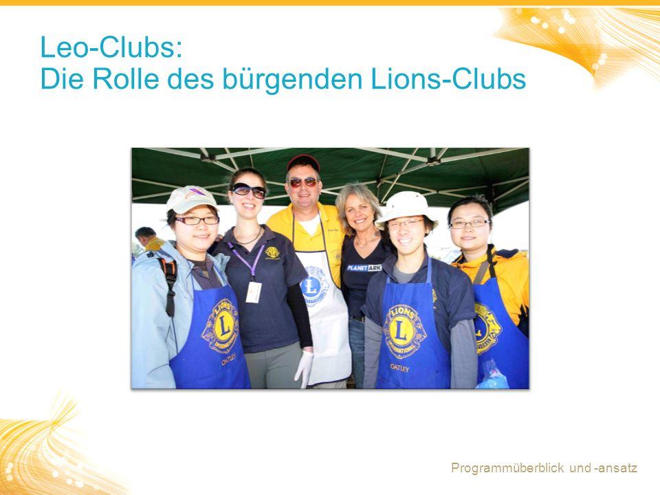 15 Leo-Clubs: Die Rolle des bürgenden Lions-Clubs Programmüberblick und -ansatz