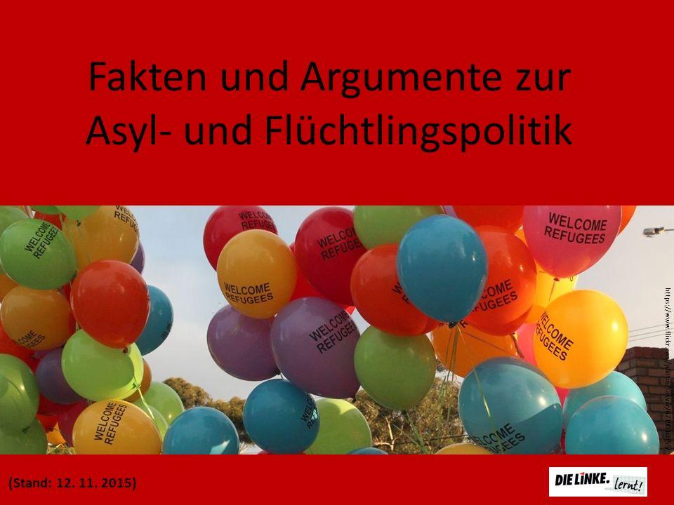Fakten und Argumente zur Asyl- und Flüchtlingspolitik (Stand: 12. 11. 2015) https://www.flickr.com/photos/takver/6719816855/