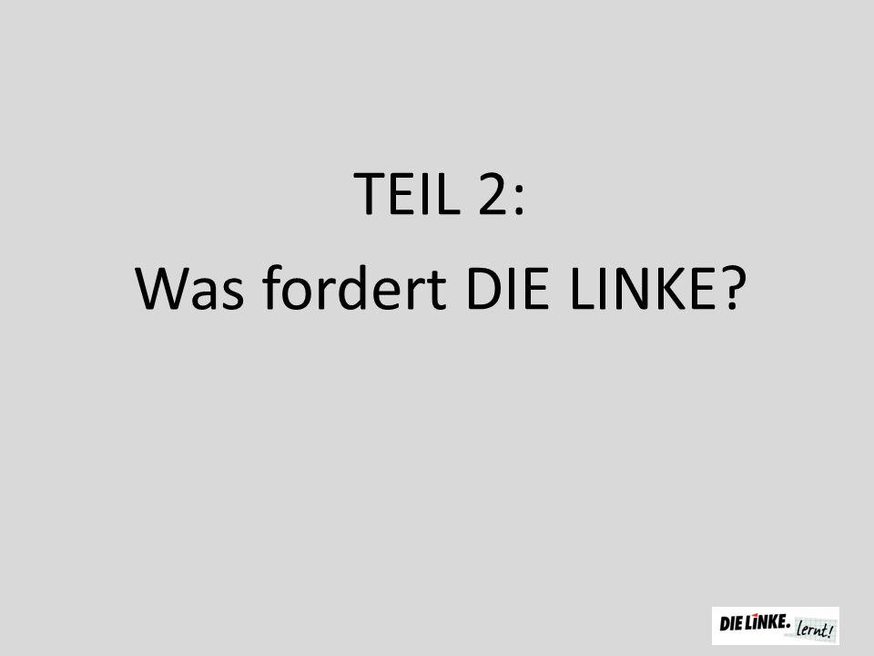 TEIL 2: Was fordert DIE LINKE?
