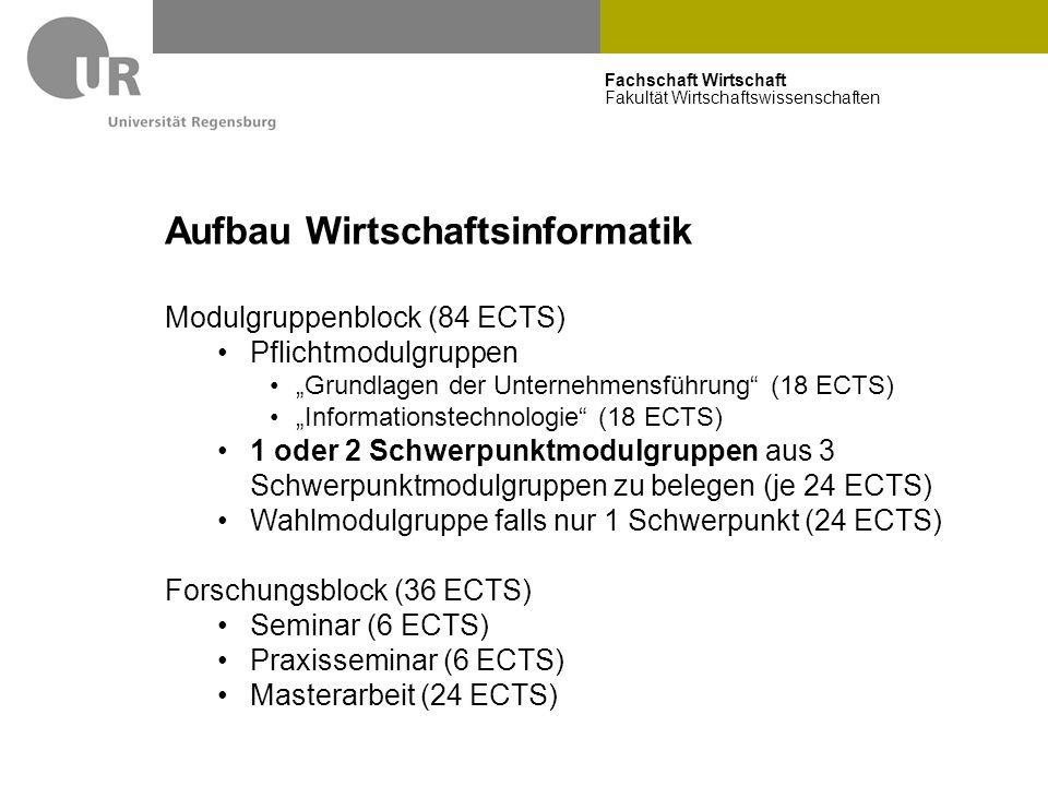 """Fachschaft Wirtschaft Fakultät Wirtschaftswissenschaften Aufbau Wirtschaftsinformatik Modulgruppenblock (84 ECTS) Pflichtmodulgruppen """"Grundlagen der"""