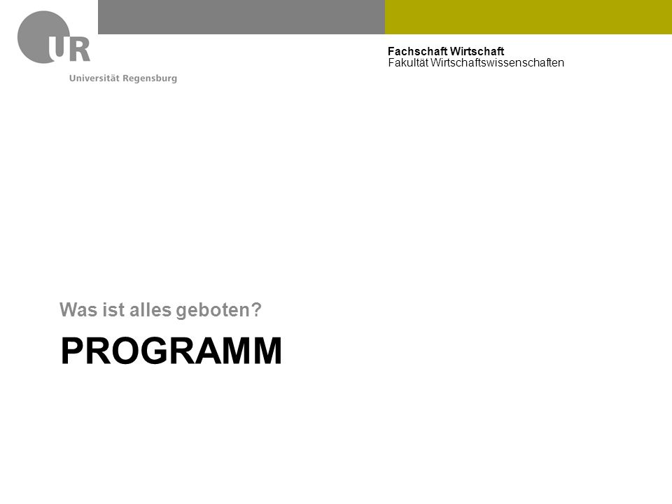 Fachschaft Wirtschaft Fakultät Wirtschaftswissenschaften Schwerpunkte Wirtschaftsinformatik Business Information Systems IT-Security Internet Business