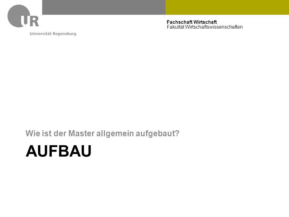 Fachschaft Wirtschaft Fakultät Wirtschaftswissenschaften AUFBAU Wie ist der Master allgemein aufgebaut?