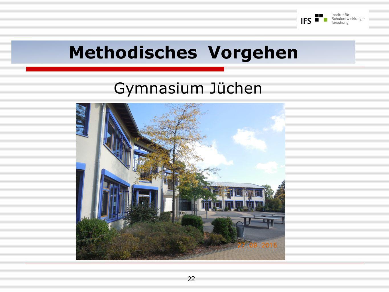 22 Methodisches Vorgehen Gymnasium Jüchen