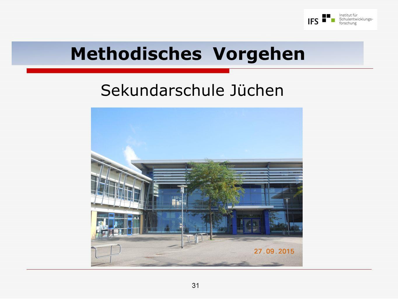 31 Methodisches Vorgehen Sekundarschule Jüchen