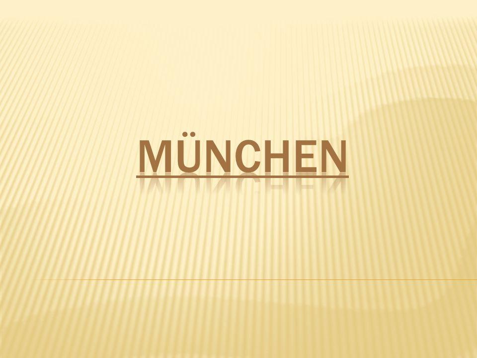 MÜNCHEN  Mnichov (německy München, starobyle Munichen – bei den Mönchen – u mnichů)München ist die Landeshauptstadt des Freistaates Bayern.