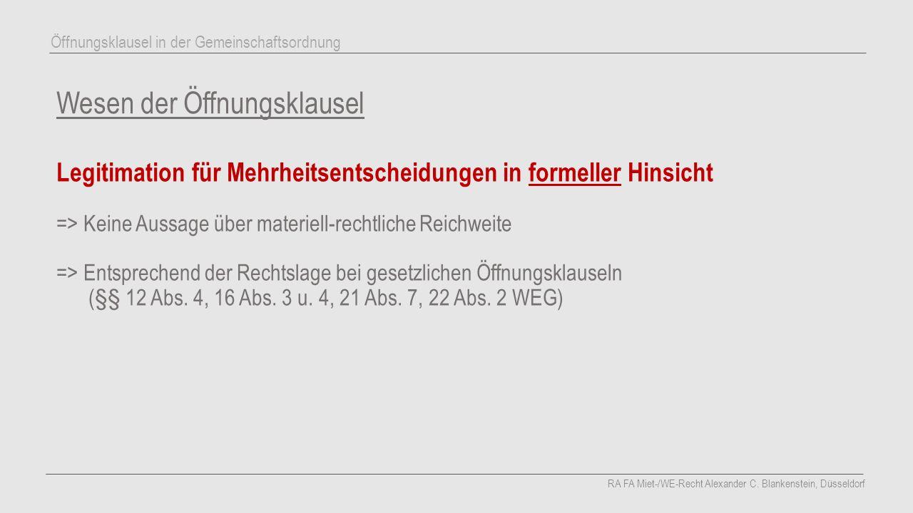 Materielle Voraussetzungen Öffnungsklausel schreibt sachlichen Grund ausdrücklich vor AG Lichtenberg (v.
