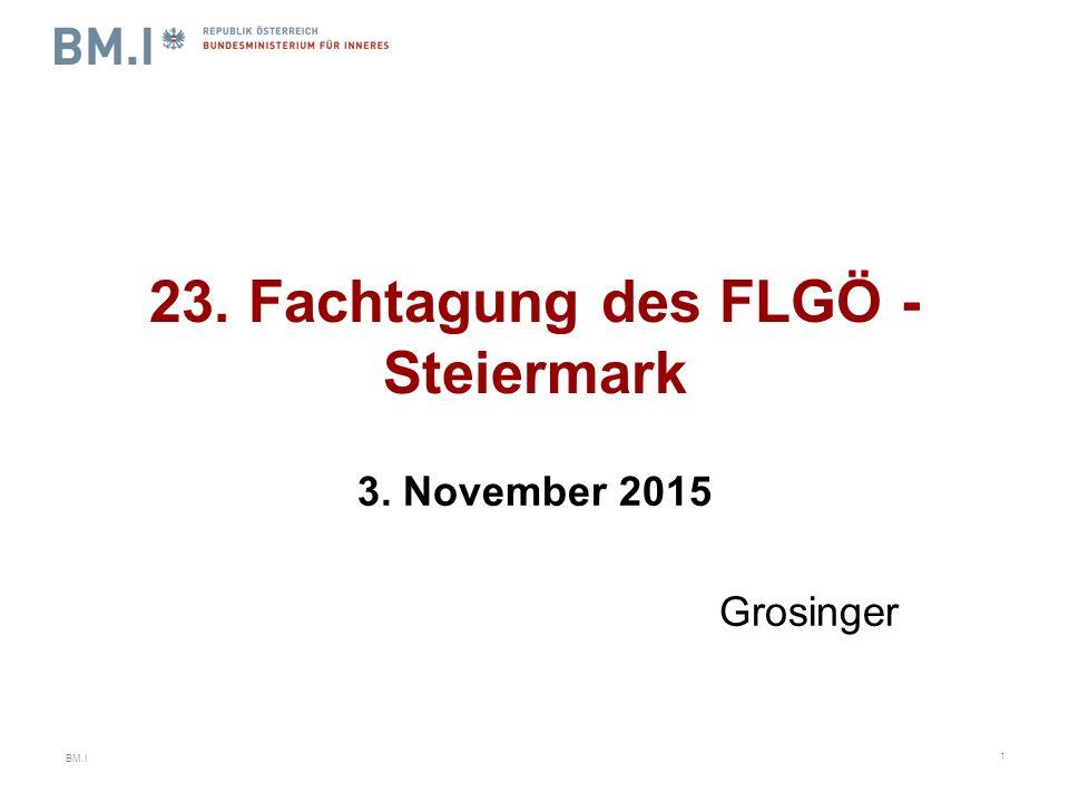 BM.I 23. Fachtagung des FLGÖ - Steiermark 3. November 2015 Grosinger 1