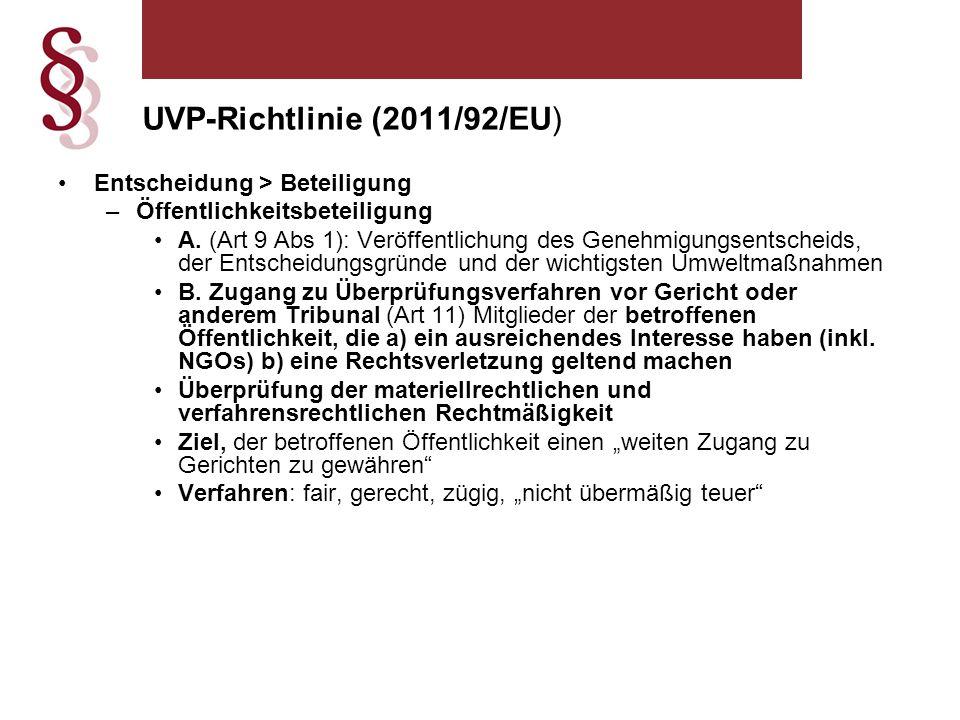 Entscheidung > Beteiligung –Öffentlichkeitsbeteiligung A.