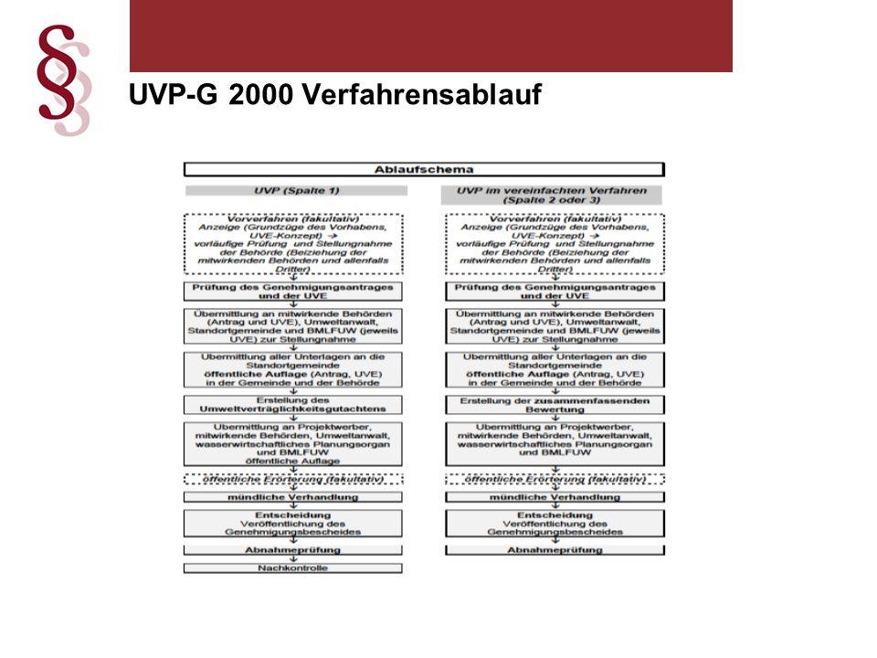 UVP-G 2000 Verfahrensablauf