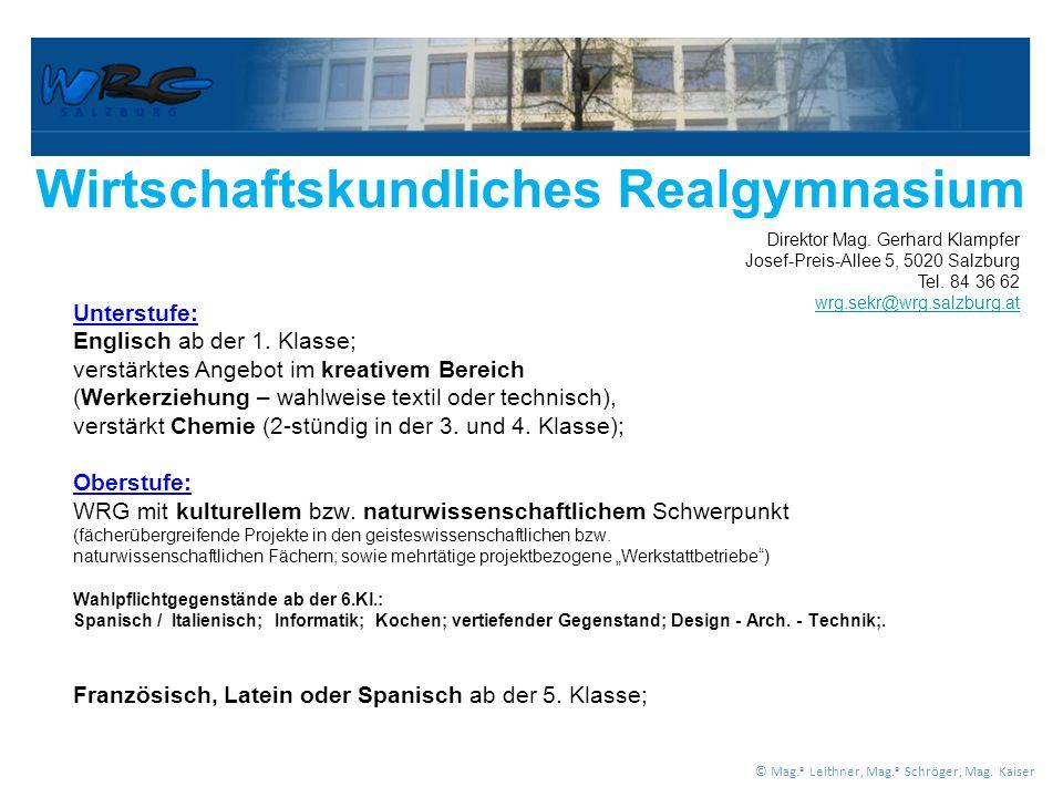 Wirtschaftskundliches Realgymnasium Unterstufe: Englisch ab der 1.