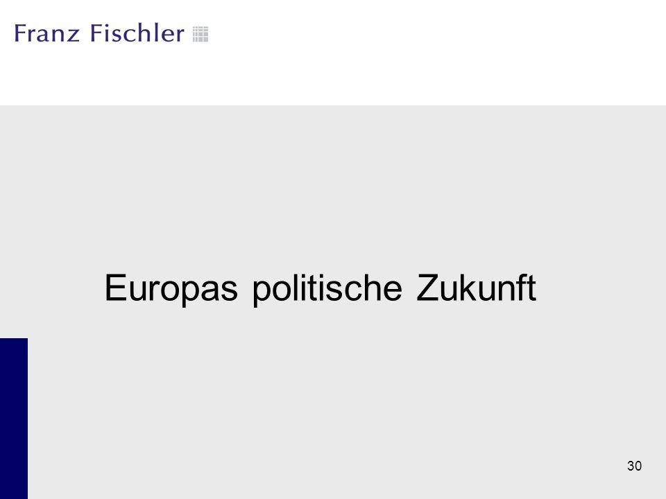 Europas politische Zukunft 30