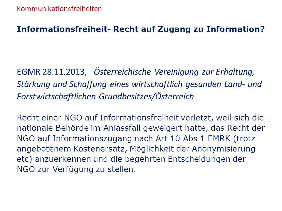 Informationsfreiheit- Recht auf Zugang zu Information.
