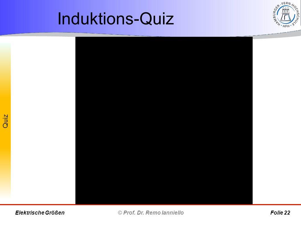 Quiz Induktions-Quiz © Prof. Dr. Remo Ianniello Folie 22 Elektrische Größen
