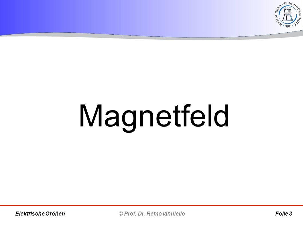 Magnetfeld © Prof. Dr. Remo Ianniello Folie 3 Elektrische Größen