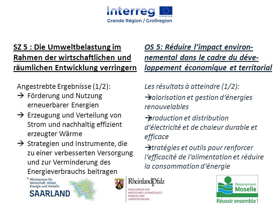 Les résultats à atteindre (1/2):  valorisation et gestion d'énergies renouvelables  production et distribution d'électricité et de chaleur durable e