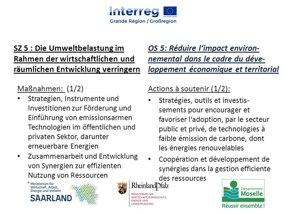 Maßnahmen: (1/2) Strategien, Instrumente und Investitionen zur Förderung und Einführung von emissionsarmen Technologien im öffentlichen und privaten S