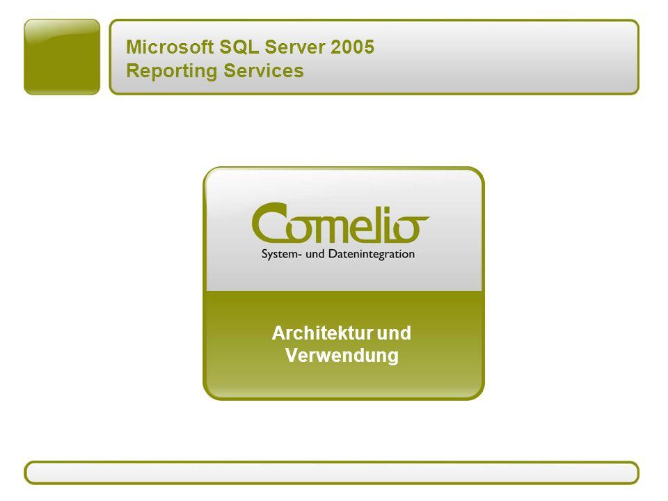 Microsoft SQL Server 2005 Reporting Services Architektur und Verwendung